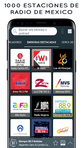 Radio Mexico: Online Radio, Internet Radio 2.3.63 screenshots 1
