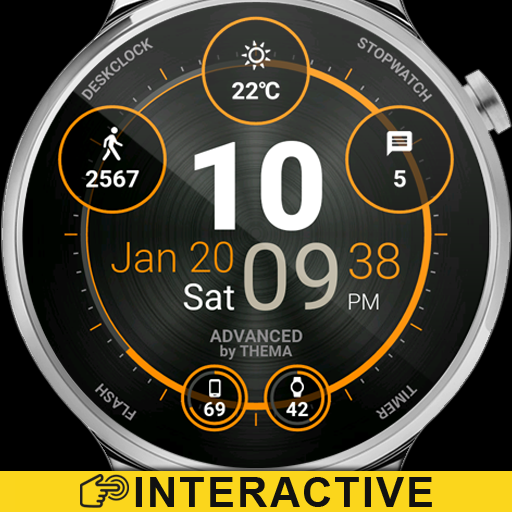 Advanced Watch Face & Clock Widget Icon