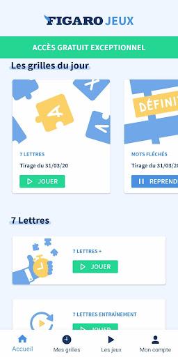 Figaro Jeux : mots croisu00e9s screenshots 1