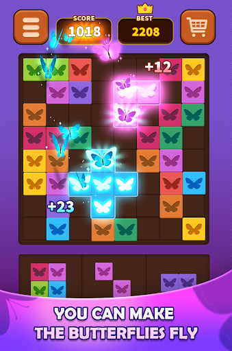 Triple Butterfly: Match 3 combine Block Puzzle apklade screenshots 2