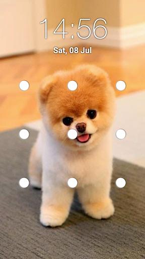puppy dog pattern lock screen screenshot 1
