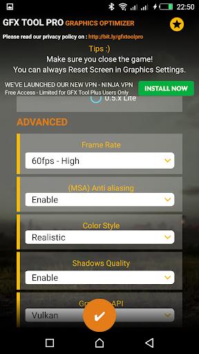GFX Tool Pro for PU Battlegounds - 60FPS Screenshots 2