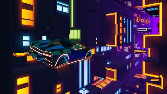 Neon Flytron: Cyberpunk Racer Mod Apk (Unlocked/No Ads) 8