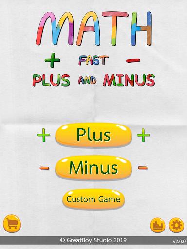 Math Fast Plus and Minus screenshots 15