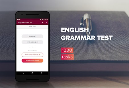 English Grammar Test Screenshot