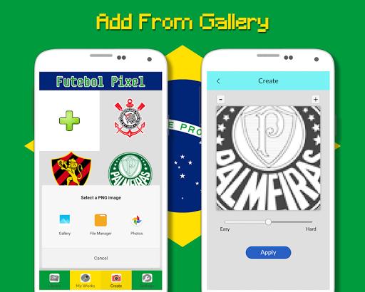 Logotipo Do Futebol Brasileiro Cor Por Nu00famero 9.0 screenshots 8