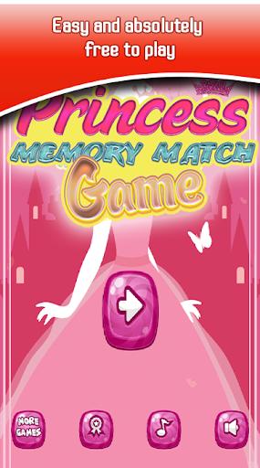 princess memory match game screenshot 1