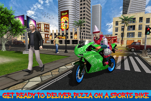 Scary Clown Boy Pizza Bike Delivery apkdebit screenshots 9