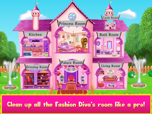 Cleaning games Kids - Clean Decor Mansion & Castle 8.1 screenshots 17