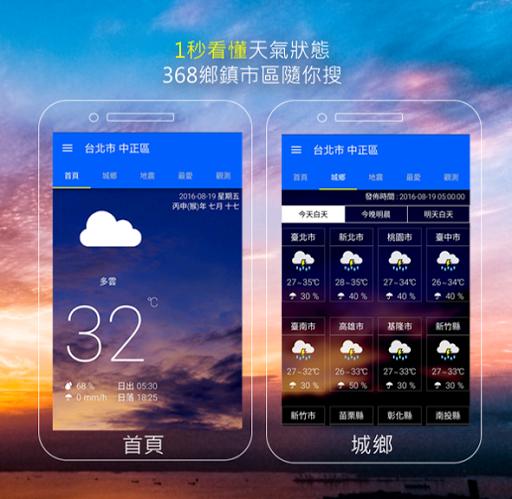 KNY台灣天氣.地震速報  screenshots 1