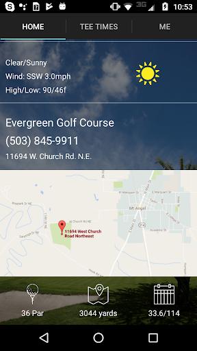 evergreen golf tee times screenshot 2