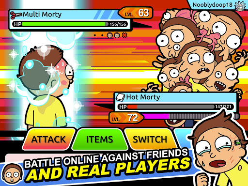 Rick and Morty: Pocket Mortys apkslow screenshots 9