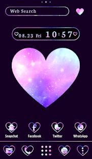 Stylish Wallpaper Galaxy Heart Theme