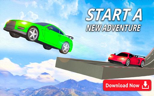 mega ramp car stunts - multiplayer car games 2021 screenshot 1