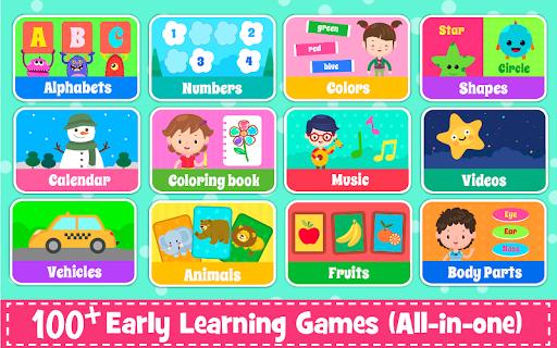 Kids Preschool Learning Games - 150 Toddler games 5.8 Screenshots 9