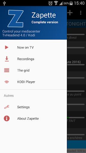 zapette for tvheadend screenshot 2