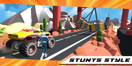 Superhero Mega Ramp Car Stunt - Monster Truck Race  screenshots 9