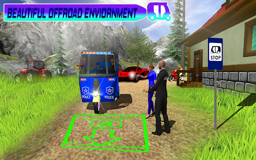 Police Tuk Tuk Auto Rickshaw Driving Game 2020 modavailable screenshots 4