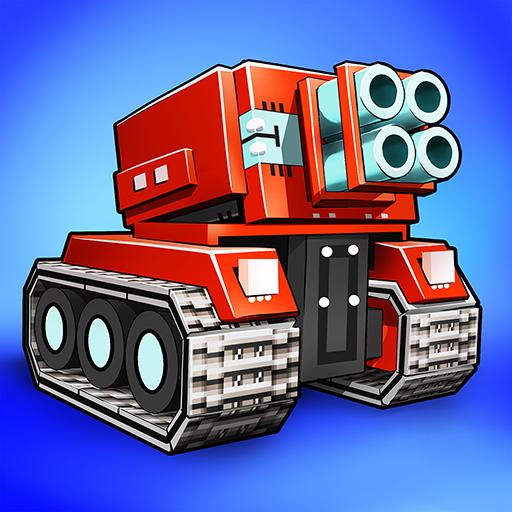 Blocky Cars - pixel shooter & tank wars