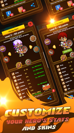 Mergy: Merge RPG game - PVP + PVE heroes games RPG android2mod screenshots 14