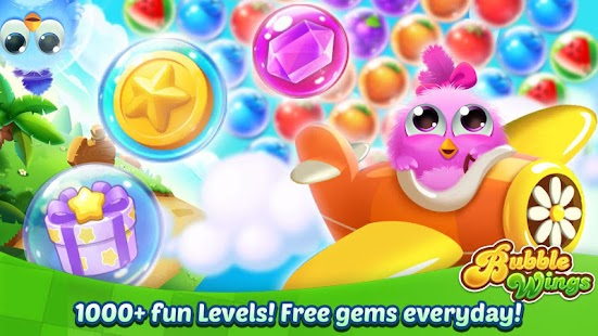 Bubble Wings: offline bubble shooter games Screenshot