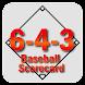 6-4-3 Baseball Scorecard