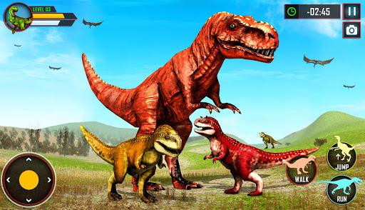 Wild Dino Family Simulator: Dinosaur Games android2mod screenshots 11