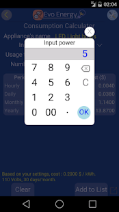 EvoEnergy - Electricity Cost Calculator Free