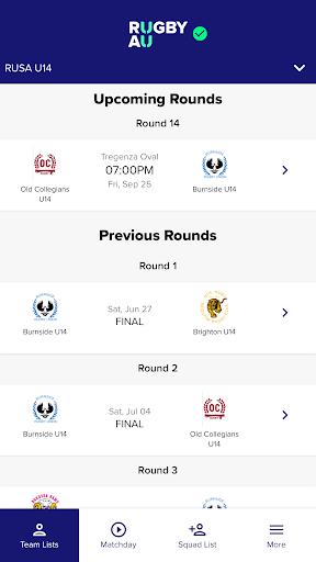 rugby match day screenshot 2