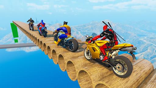 Superhero Bike Stunt GT Racing - Mega Ramp Games 1.21 screenshots 3