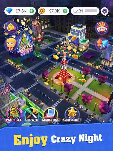 Crazy Night:Idle Casino Tycoon screenshots 9