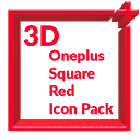 3D Square Red Icon Pack Oneplus Style