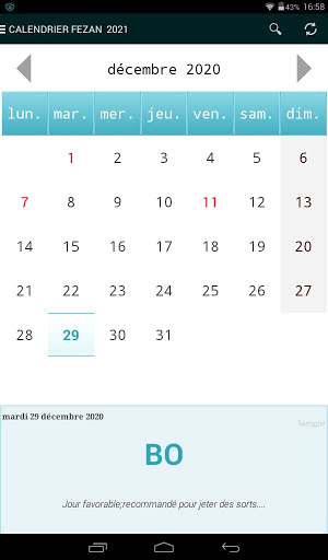Download CALENDRIER FEZAN 2021 Free for Android   CALENDRIER FEZAN