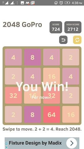 2048 go pro - puzzle game screenshot 3