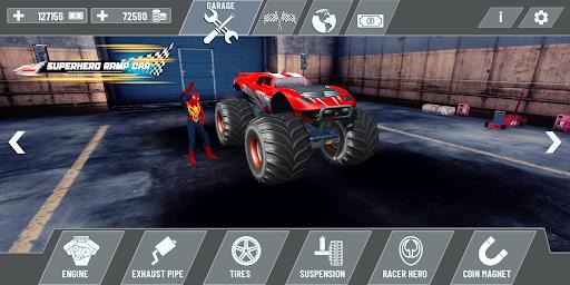 Superhero Mega Ramp Car Stunt - Monster Truck Race  screenshots 5