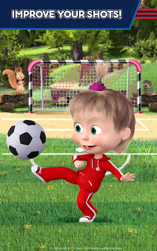 Masha and the Bear: Football Games for kids Apkfinish screenshots 14