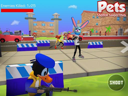 Shooting Pets Sniper - 3D Pixel Gun games for Kids screenshots 6