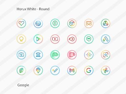 Horux White Apk- Round Icon Pack (Paid) 3
