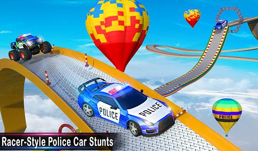Police Car Stunts Racing: Ramp Car New Stunts Game 2.1.0 Screenshots 23