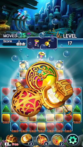 Jewel ocean world: Match-3 puzzle Apkfinish screenshots 22