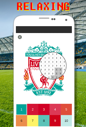 Football Logo Coloring By Number - Pixel Art 15.0 screenshots 2