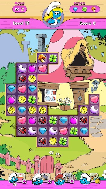 Captura de Pantalla 9 de Smurfette's Magic Match para android