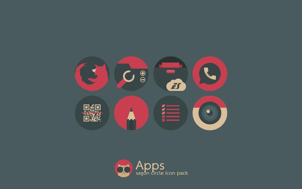 Sagon Circle Icon Pack: Dark UI  poster 4