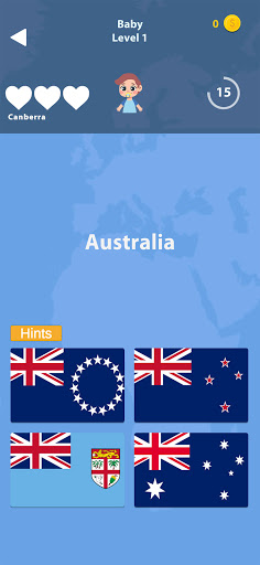 Guess the Flag - World Flags Quiz, Trivia Game 1.41 screenshots 1