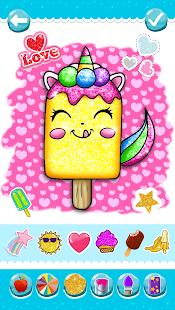 Glitter Ice Cream Coloring 5.4 Screenshots 1