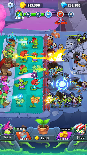 Plant Empires - Zombie War, Merge Defense Monster  screenshots 4