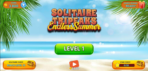 Solitaire Tripeaks - Endless Summer modavailable screenshots 3