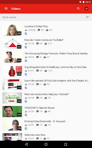 YouTube Studio 20.47.101 Screenshots 11