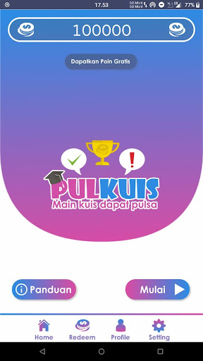 PulKuis - Main Kuis Dapat Pulsa 1.5.0 screenshots 1