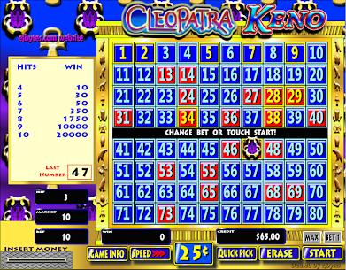 Free Cleopatra Keno 3